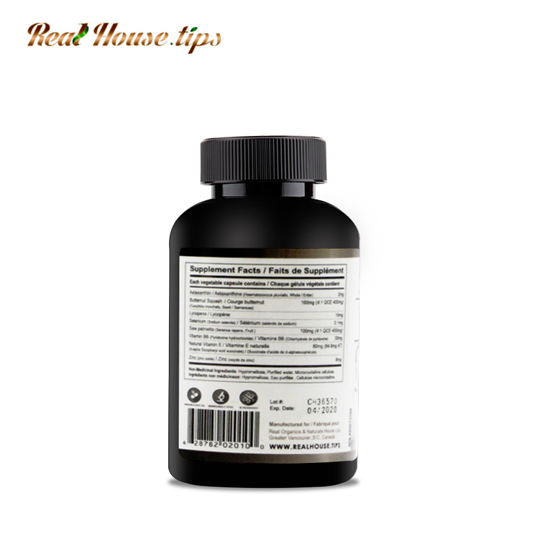 A bottle of Unique Prostate Care Capsules from Real House.