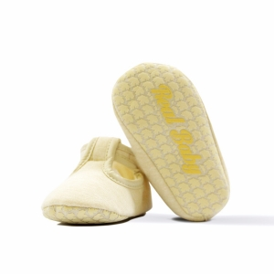 Real • Baby Organic Cotton Crawling T-Bar Flats Size: 11cm & 12cm-0