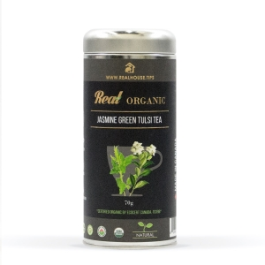 Real • Organic Jasmine Green Tulsi Tea -0