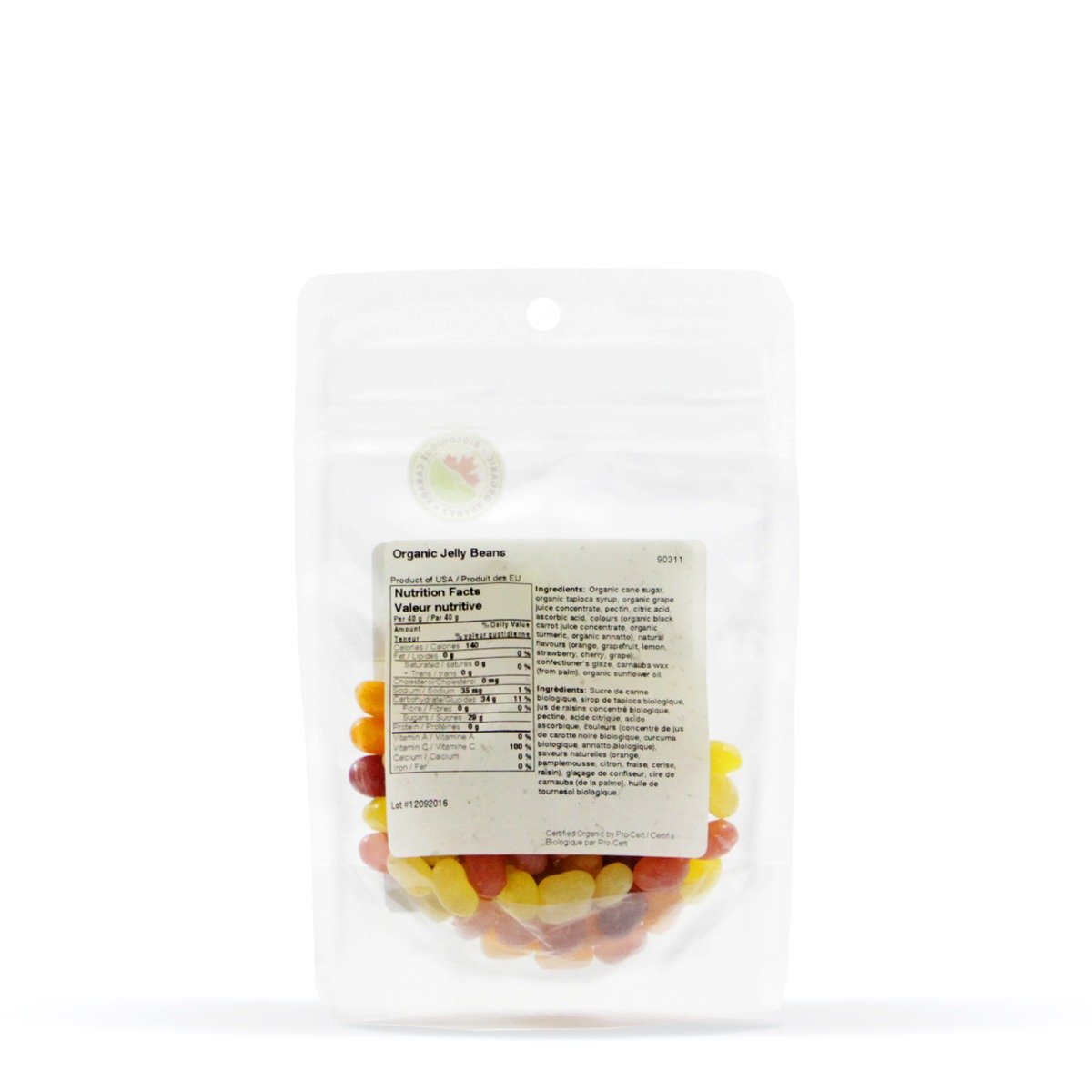 Nutritional Information for Real • Organic Jelly Beans