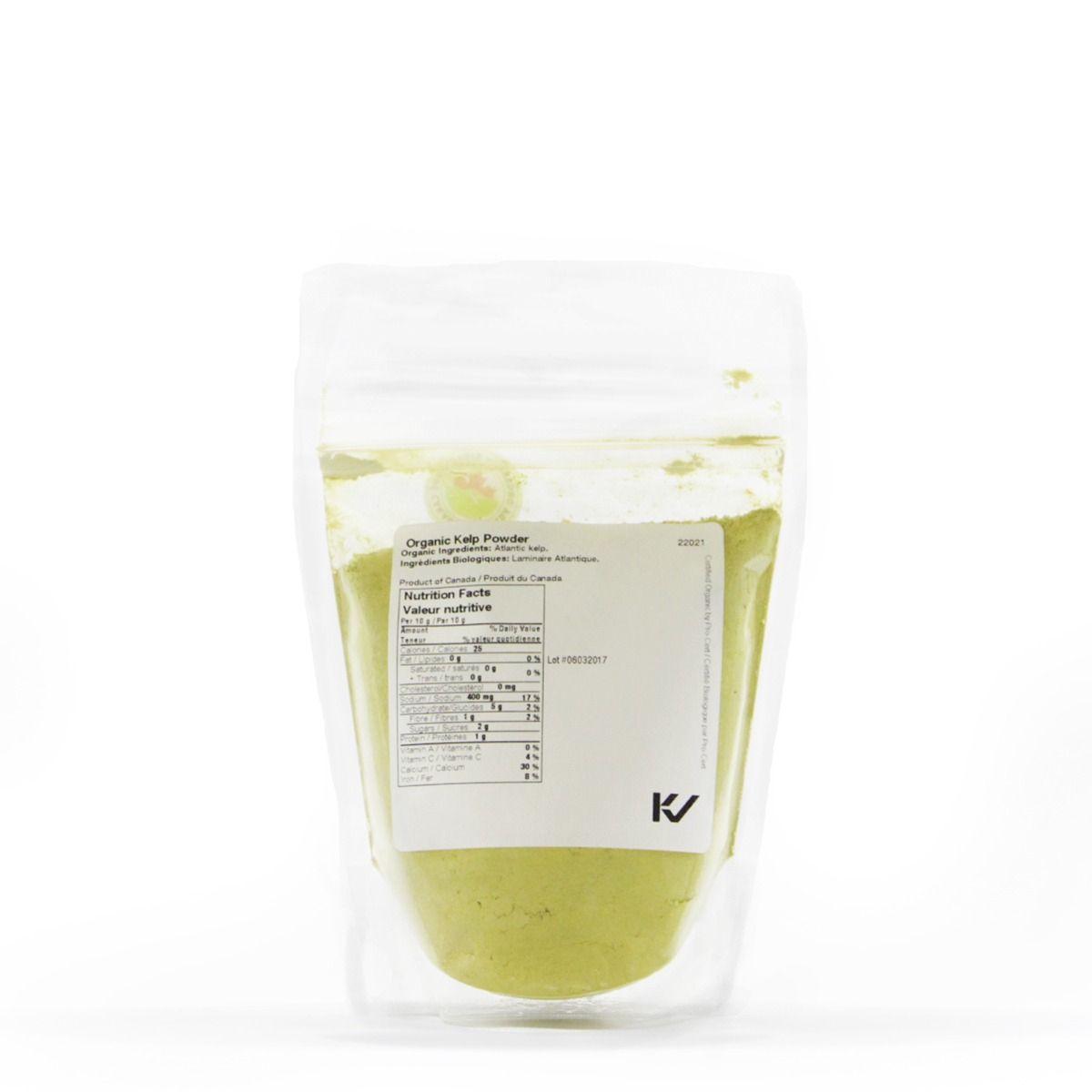 Nutritional Information About Real • Organic Kelp Powder