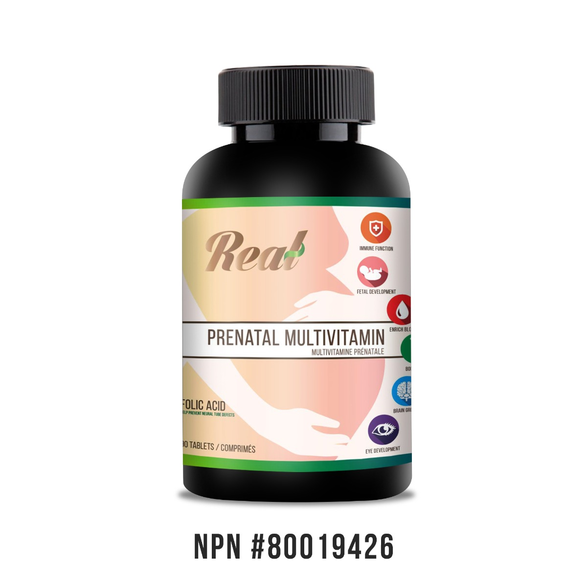 Real • Prenatal Multivitamin Tablets -0
