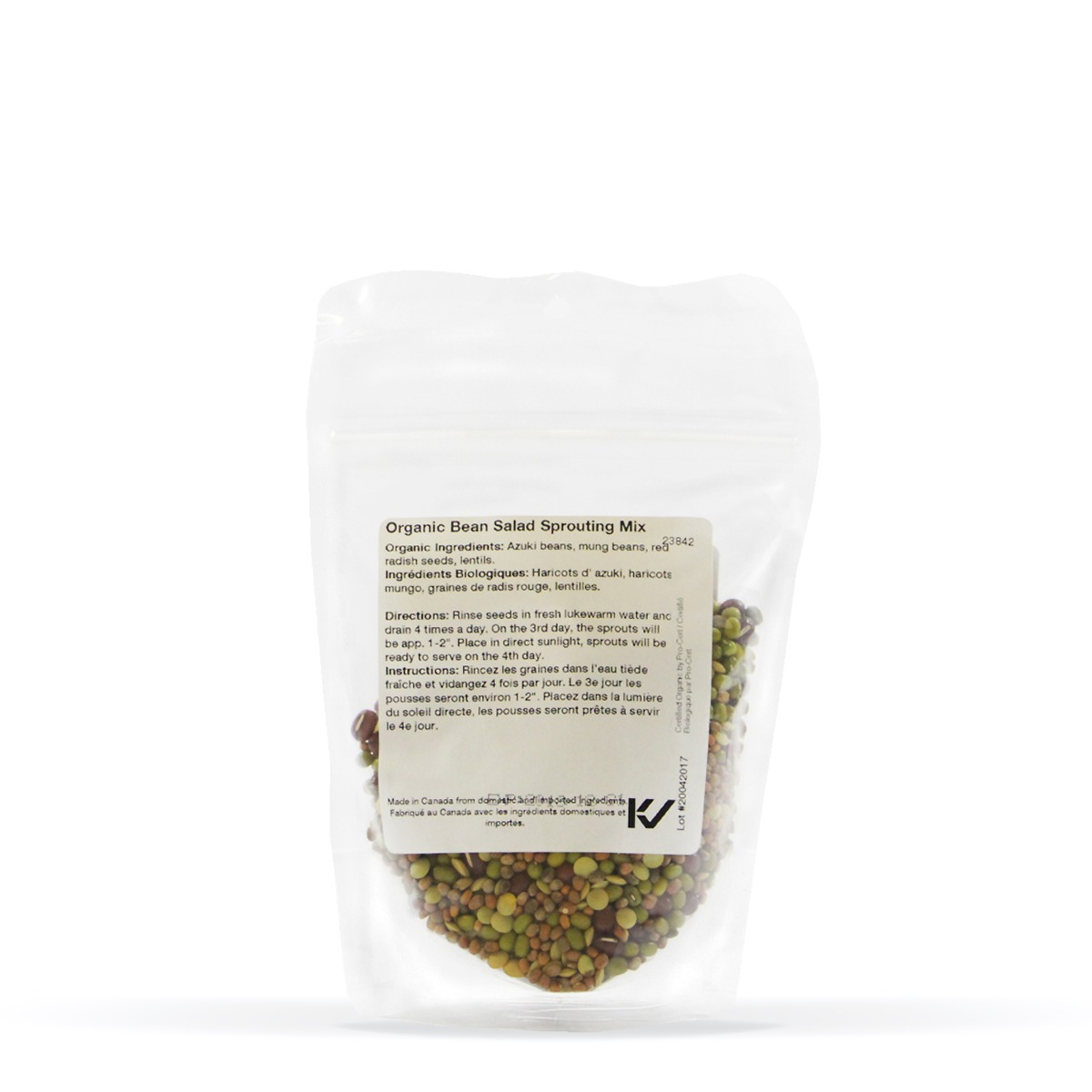 Nutritional Information About Real • Organic Bean Salad Sprouting Seed Mix