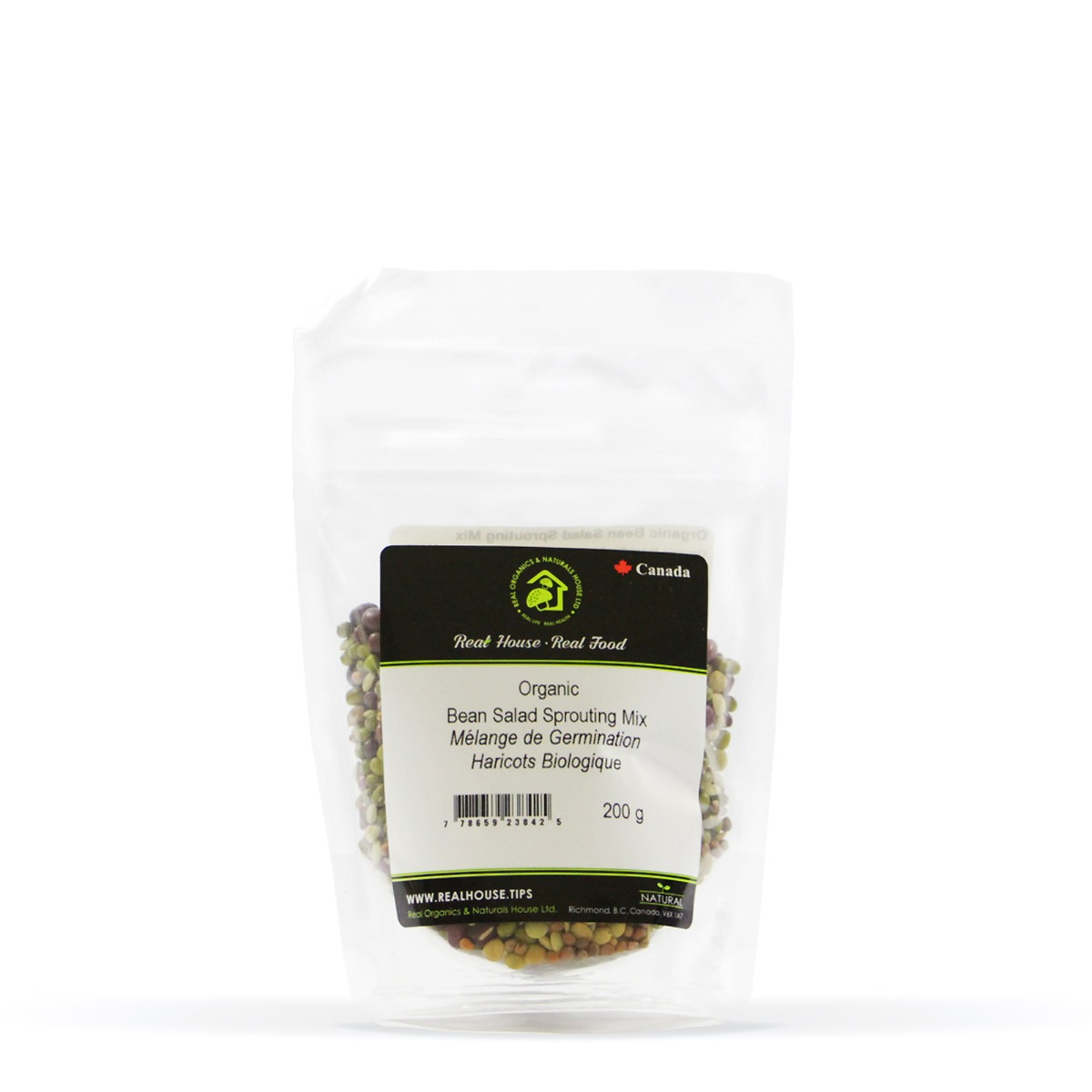 Real • Organic Bean Salad Sprouting Seed Mix-0